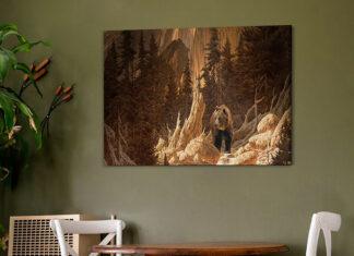Nowoczesne obrazy w salonie